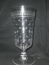 "Large 10"" Victorian/Edwardian Etched Glass Celery Vase"