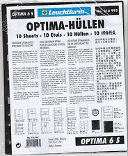 LIGHTHOUSE Optima Sheets 6s Black 6 Strips per Sheet (pack of 10)