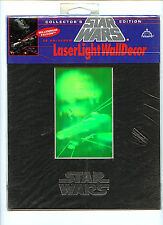 Star Wars Millennium Falcon Fantasma 3D Laser Light Hologram  Decor LTD 1993 H14