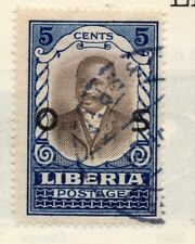 Liberia 1920s Officials Early Issue Fine Used 5c. Optd 151446