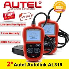 2 x Autel Autolink AL319 OBD2 Diagnostic Scanner Code Reader Tool Color Screen