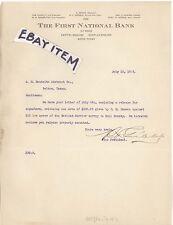 NATIONAL BANK TEXAS WACO 1913 GRIBBLE ROTAN PADGITT BRAZELTON McGHEE DUPREE LHD