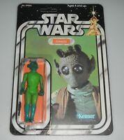 *RECARDED* 1978 Star Wars Greedo Figure Complete Sealed *CUSTOM Card Back*