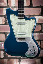 DANELECTRO DEAD ON 67 HORNET ELECTRIC GUITAR IN A CORAL BLUE FINISH