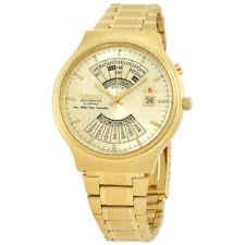 Orient Perpetual Calendar Automatic Gold Dial Men's Watch FEU00008CW