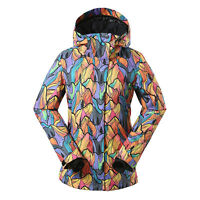 Women's Waterproof Outdoor Skiing Snowboarding Cotton Padded Jacket Hooded Coat