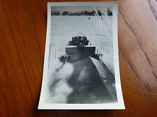 Lot41 - WW2 Original Photo UNKNOWN SHIP Firing MISSILES