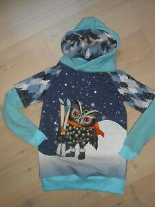 Kapuzen  Hoodie Pullover, Winter Pullover Unisex Gr. 128-134 Unikat
