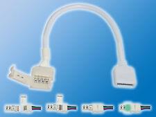 4x 10mm RGB Verbindungskabel Klemmverbinder auf 4 Pol IDC Buchse Schnellverbind.