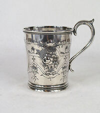 Hyde & Goodrich New Orleans Southern Coin Silver Hand Chased Cup Mug
