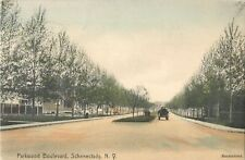 A Quiet Day On Parkwood Boulevard, Schenectady, New York NY, Handcolored 1907