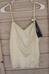Vintage Vanity Fair Camisole Satin Top Ivory White Size 38 44 NEW