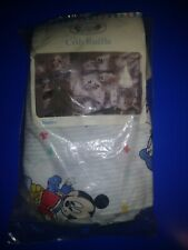 Vintage~ Dundee Disney Crib Ruffle Mickey, Donald Duck, Minnie Nursery Rhymes