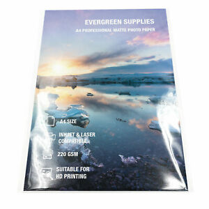 Matte Photo Card Double Sided 220 gsm HD Photo Paper Printing 50 Sheets A4