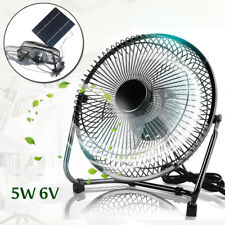 """5W Solar Panel Powered USB 6"""" Mini Cooling Fan For Outdoor Camping Hiking"""