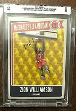 2019 Mc Donald's All American Red Zion Williamson  1 of 1