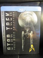 Star Trek Three Movie Collection Blu-Ray Steelbook Region Free Sealed Trilogy 3