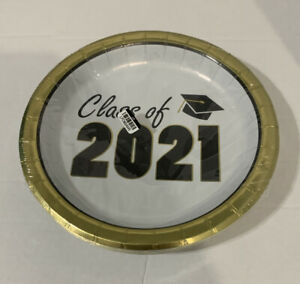 Class of 2021 Paper Plates Spritz 8.5 in 20 Count