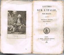 LETTRES sur L'ITALIE par DUPATY Avignon Toulon Lucques Tivoli Frascati 1838 T.1