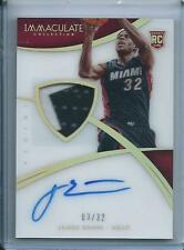 2014-15 Panini Immaculate James Ennis Auto Patch RC RPA Rookie Acetate /32 Heat
