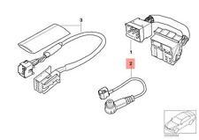 Genuine BMW E38 E39 E46 E53 R50 R53 Antenna Adapter Tubing OEM 61126913955