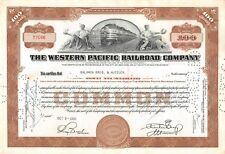 The WESTERN  Pacific Railroad Compagny Certificate 100 shares  1950 (7046)