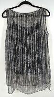 NEW Eileen Fisher Silk Sleeveless Blouse W/Tank SZ M #T580