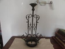 ancienne grande monture de lustre en bronze laiton