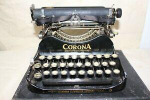 RARE CORONA STANDARD FOLDING TYPEWRITER NO. 3 EARLY MODEL 1913