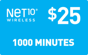 NET 10 REFILL  Prepaid $25 Refill Top-Up , AIRTIME  RECHARGE  1000 MINUTES
