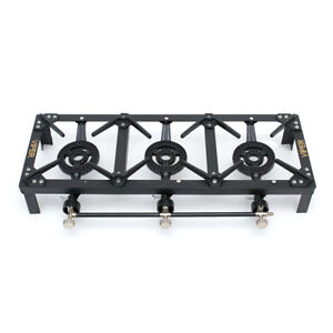 Large LPG Gas Burner Cooker Cast Iron Boiling Ring Camping Triple 15 Kw Viper