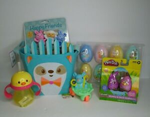 Filled Hedgehog Easter Basket (Toddler 3+) Lot Includes Everything Pictured NWT