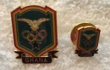 Ghana Large and Small Undated Olympic NOC Athletes Pins in PyeongChang Blue