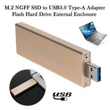 M.2 NGFF SSD to USB 3.0 Type-A Adapter Flash Hard Drive HDD External Enclosure