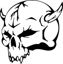 This is a devil skull die cut vinyl sticker or decal. Great for Car or laptop!!!