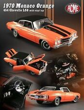 1:18 GMP ACME 1970 CHEVROLET CHEVELLE SS LS6 Monaco Orange 454 VINYL ROOF LE 454