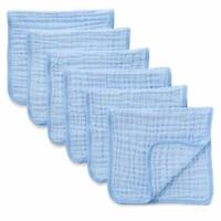 Muslin Burp Cloths 6 Pack Large 100% Cotton Hand Washcloths 6 Layers Extra