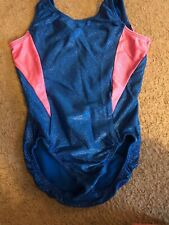 Euc Motion Wear Leotards Gymnastics Dance Blue Pink, Child Medium