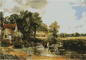 John Constable Hay Wain Counted Cross Stitch Kit 18x12 14 Count