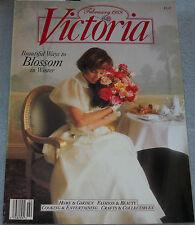Victoria Magazine February 1989 Beautiful Ways To Blossom In Winter