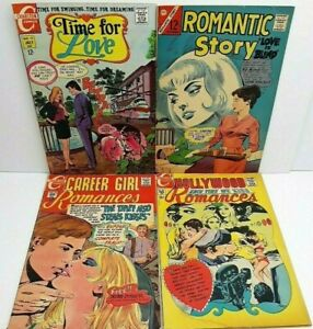 Lot of 4 Silver Age Romance Comics! Charlton 1966 NICE SEE PICS VG- to FN