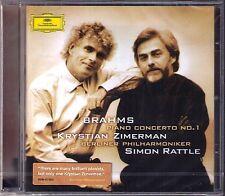 Krystian ZIMERMAN: BRAHMS Piano Concerto No.1 Simon RATTLE CD Klavierkonzert NEU