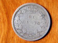 Queen Victoria, 1858 Twenty 20 Cents Silver Canada,Canadian Silver Coin