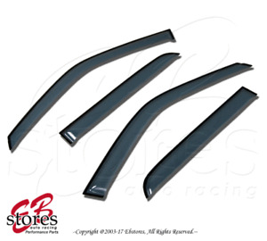 Light Tinted Out-Channel Visor Deflector 4pc For 2007-2016 Toyota Tundra CrewMax