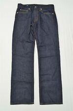 NEW Bonobos 32 x 34 Straight Dark Rinse White Oak Cone USA Made Denim Jeans