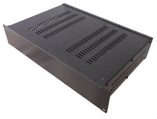 2U Rack enclosure mount vented chassis case 250mm deep for 19 inch network rack