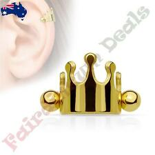 316L Surgical Steel Rose Gold Ion Plated Crown Helix / Cartilage Cuff Barbell