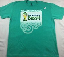 NEW FIFA World Cup Brasil 2014 Green Brazil T-Shirt Short Sleeve XL Soccer
