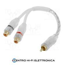 Cavo Audio Sdoppiatore RCA 2 Prese - 1 Spina contatti dorati cavo 20 Cm