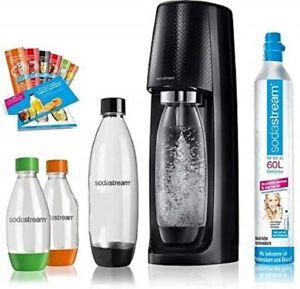 SodaStream Easy Wassersprudler-Set Vorteilspack mit CO2- Zylinder, 2x 1 L PET-Fl